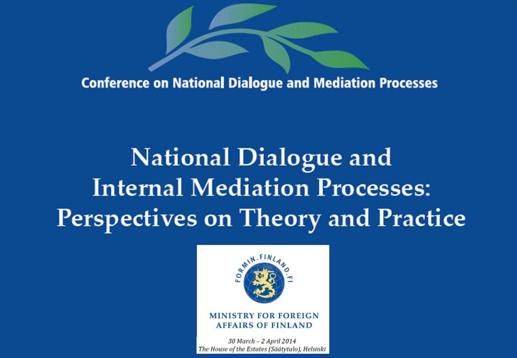 First International Conference on National Dialogues and Mediation Processes
