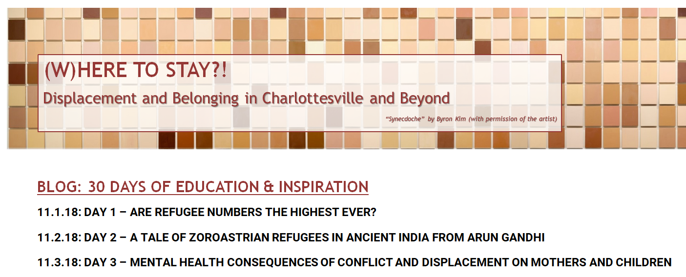 30 Days of Facts and Reflections on Displacement Launched
