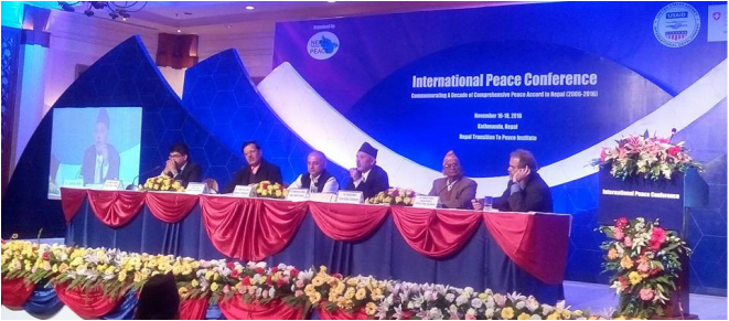 International Peace Conference Commemorating the 10th Anniversary of Nepals' Comprehensive Peace Accord.